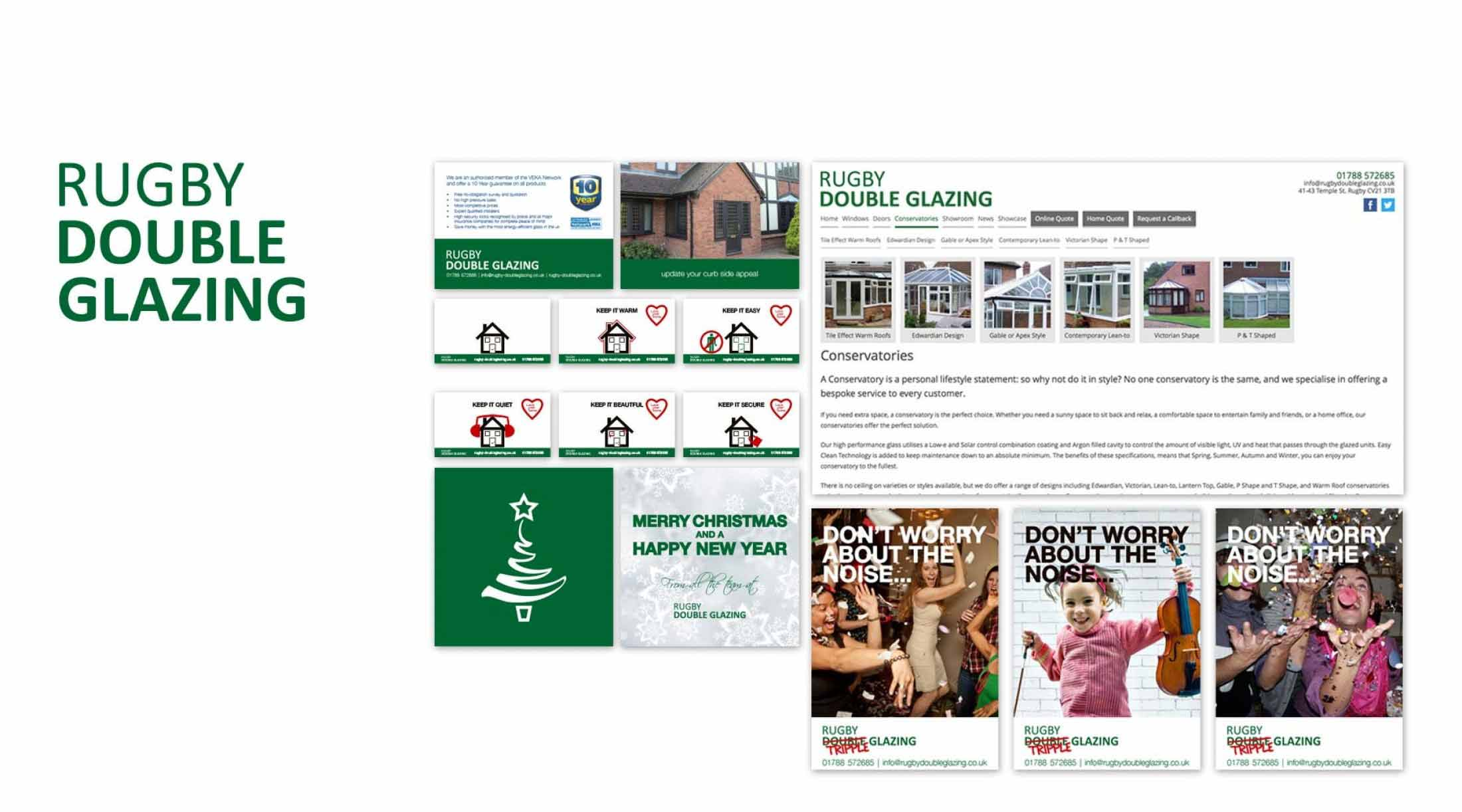 Rugby Double Glazing  - Logo Design, Branding & Web design